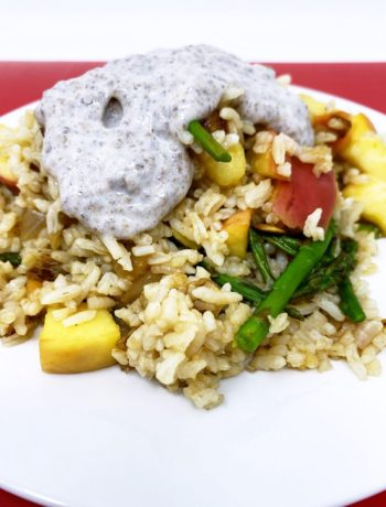 Coconut Flax Sauce for Apple Fried Rice