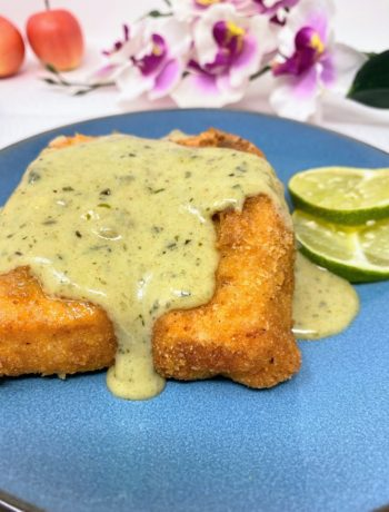 Green Coconut Curry Sauce for Fried Cod Fish