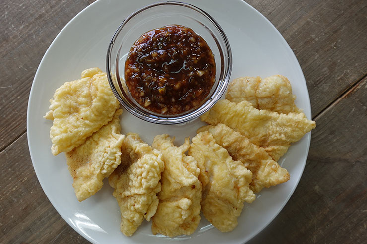 Spicy Fresh Vegetables Sauce for Fried Fish