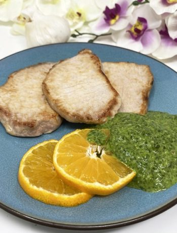 Pesto Sauce for Pan Roasted Pork Chops