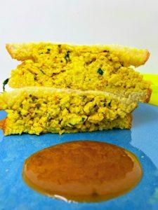 Scrambled Tofu Sandwich With Spicy Hawaiian Sauce