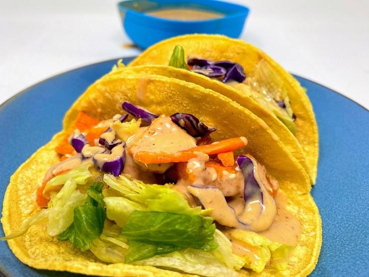 Vegan Peanut Sauce for Sweet Potato Tacos