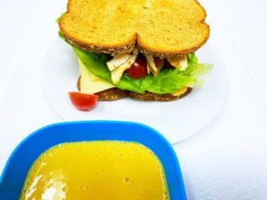 Turkey Mozzarella Sandwich With Honey Mustard Sauce